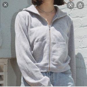 Brandy Melville ribbed hoodie